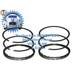 Jeu de segments moteur visa lna 652cc 1.5/2/3 diametre 77mm