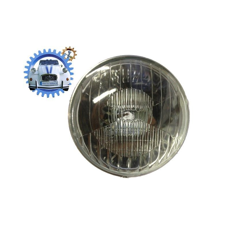 Head light 2cv early model without hole for pilot light bayonet