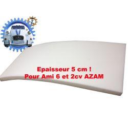 Mousse de banquette pour assise ou dossier sur Ami6 ou AZAM épaisseur 5 cm