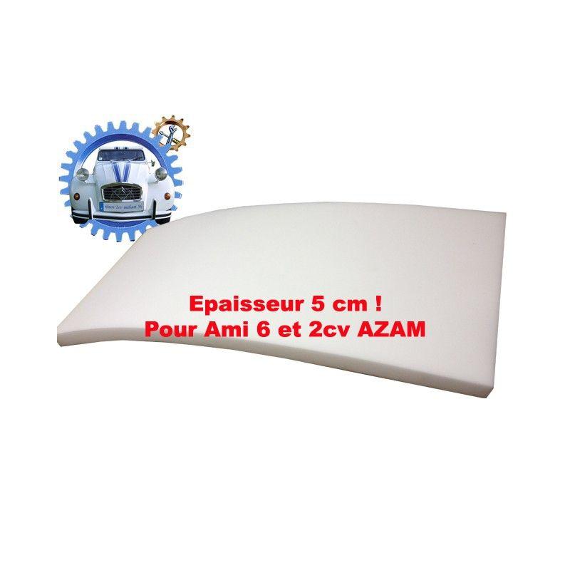 Mousse de siège ou d'assise pour Ami6 ou AZAM épaisseur 5 cm