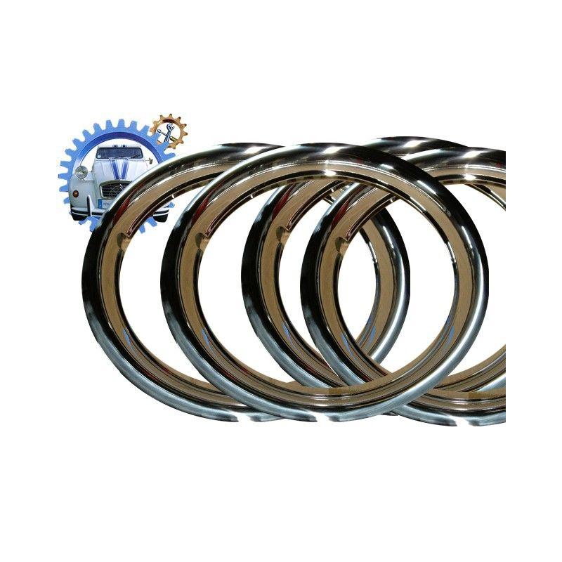 Chromed wheel rim surround set of 4