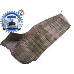 Plage arrière de 2cv en tissus ecossais