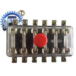 Boite fusible plastique pour fusible verre 6 positions fiche ronde