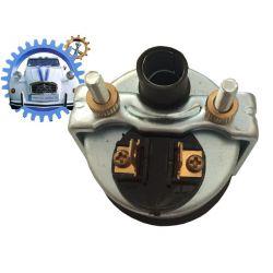 Voltmètre électrique 8 à 16 volts avec entourage chrome