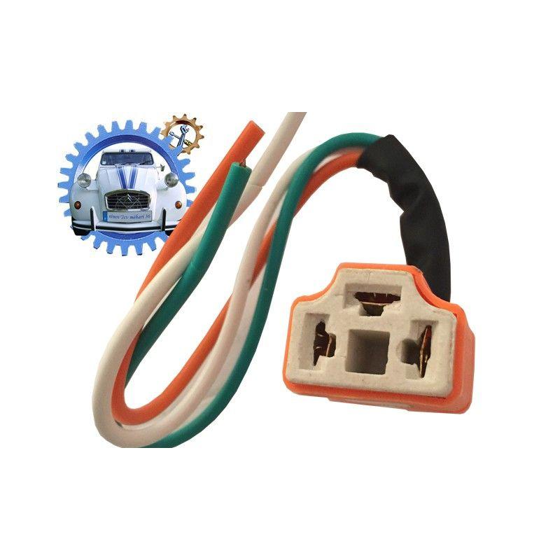 Connecteur ceramique pour ampoule de phare P43 et P45