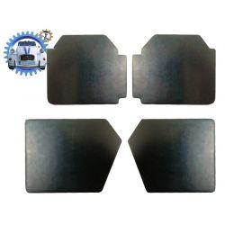 Lot de 4 panneaux de porte pour 2cv skai noir grand modèle