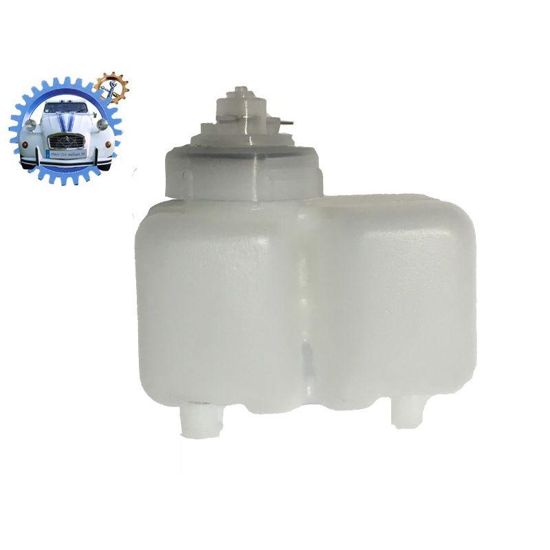 Reservoir pour maitre cylindre double circuit lockheed