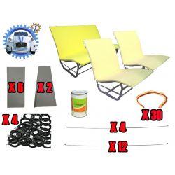 Kit montage sellerie pour 2 sièges et banquette SYM / ASYM