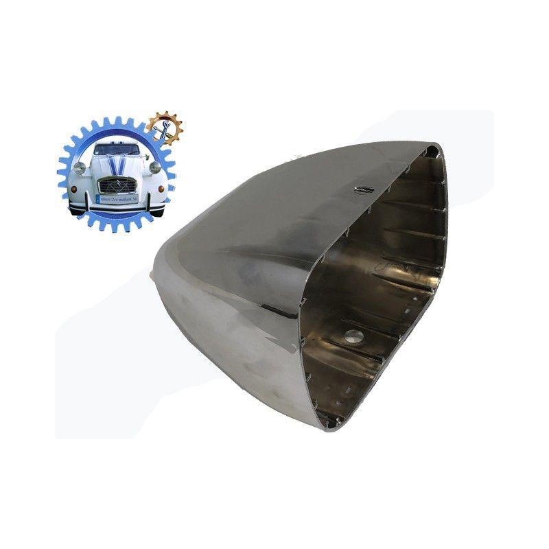 Cuvelage plastique Chrome optique de phare RECTANGULAIRE 2cv