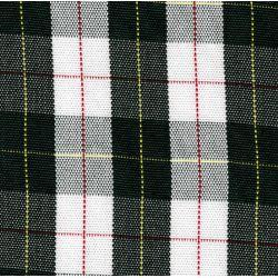 Rear Bayadere seat cover ecossais green and white 2cv