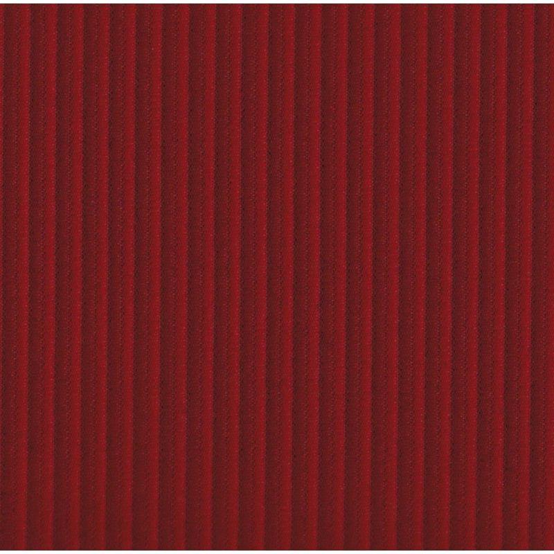 Garniture banquette bayadère 2cv arrière rouge rabattable