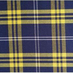 Siege bayadere ecossais bleu et jaune  lot de 4 2cv