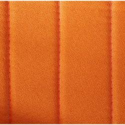 Plage arrière de 2cv en tissus orange
