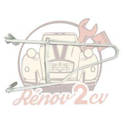 Support de roue de secours 2cv dans compartiment moteur