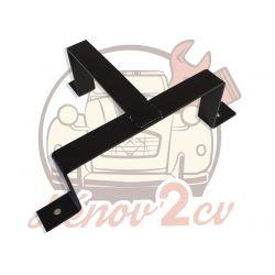 Support bidon d'huile 2L en Acier peint noir épaisseur 3mm pour 2cv