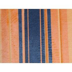Plage arrière de 2cv en tissus orange rayé