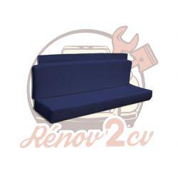 Garniture en skai bleue de banquette arrière de Méhari sans mousse