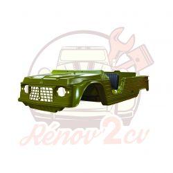 Kit carrosserie complet Méhari ancien modèle 23 pièces VERT MONTANA