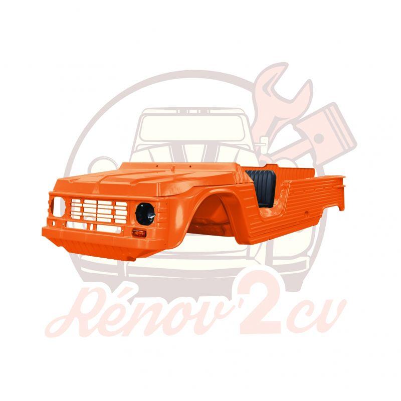 Kit carrosserie complet Méhari nouveau modèle 23 pièces ORANGE