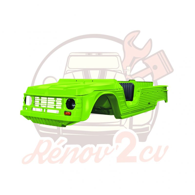 Kit carrosserie complet Méhari nouveau modèle 23 pièces VERT TIBESTI
