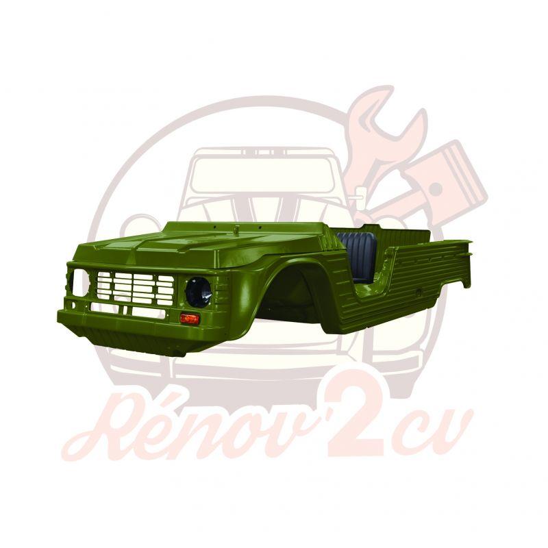 Kit carrosserie complet Méhari nouveau modèle 23 pièces VERT MONTANA