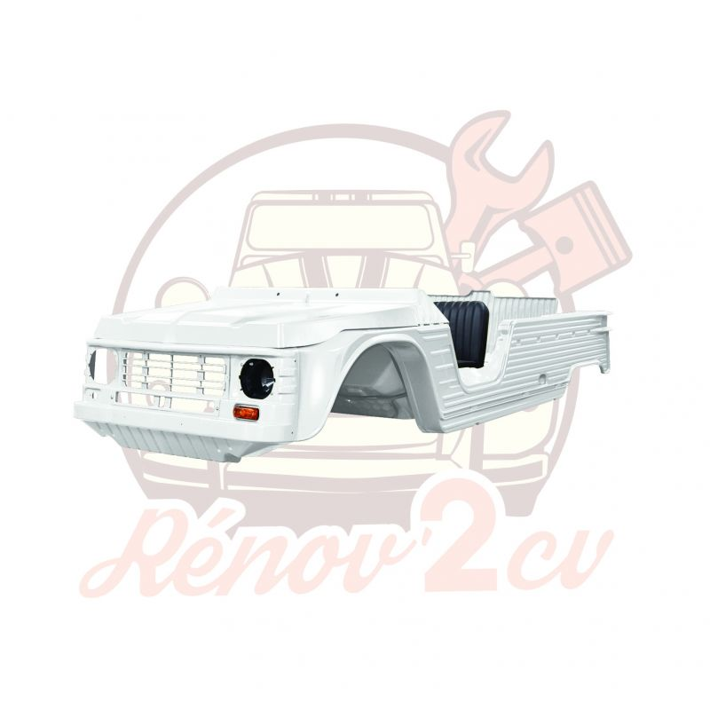 Kit carrosserie complet Méhari nouveau modèle /ancien tableau de bord BLANC BRILLANT- PMMA