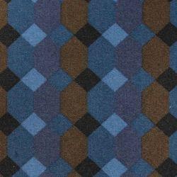 Jeu de garniture sièges et banquette 2cv damier bleu asymétrique