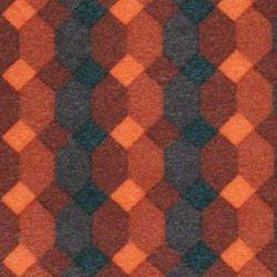 Jeu de garniture sièges et banquette 2cv damier rouge symétrique