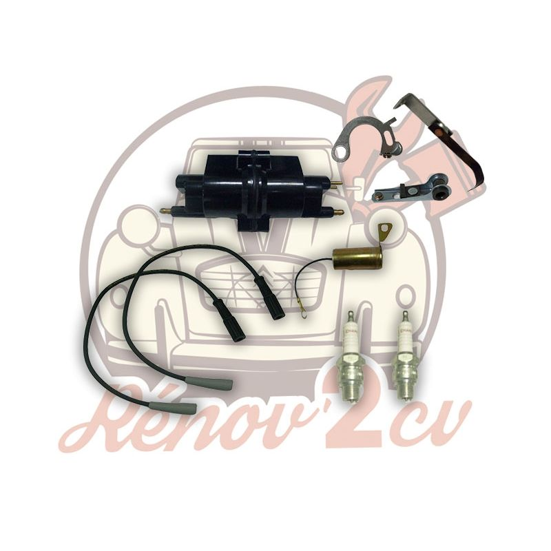 Ignition kit 6 volts 2cv