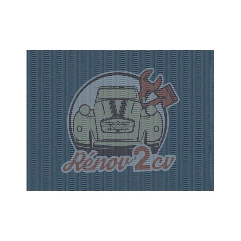 Cappotta 2cv blu Celeste tela rinforzata