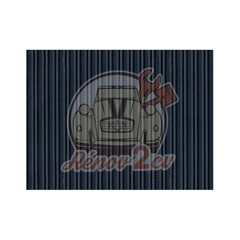 Capote 2cv gros grain bleu marine toile renforcee