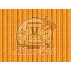 Capote 2cv gros grain jaune mimosa toile renforcee