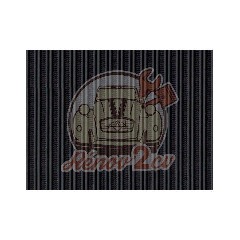 Capote 2cv gros grain noire (gris anthracite) toile renforcee