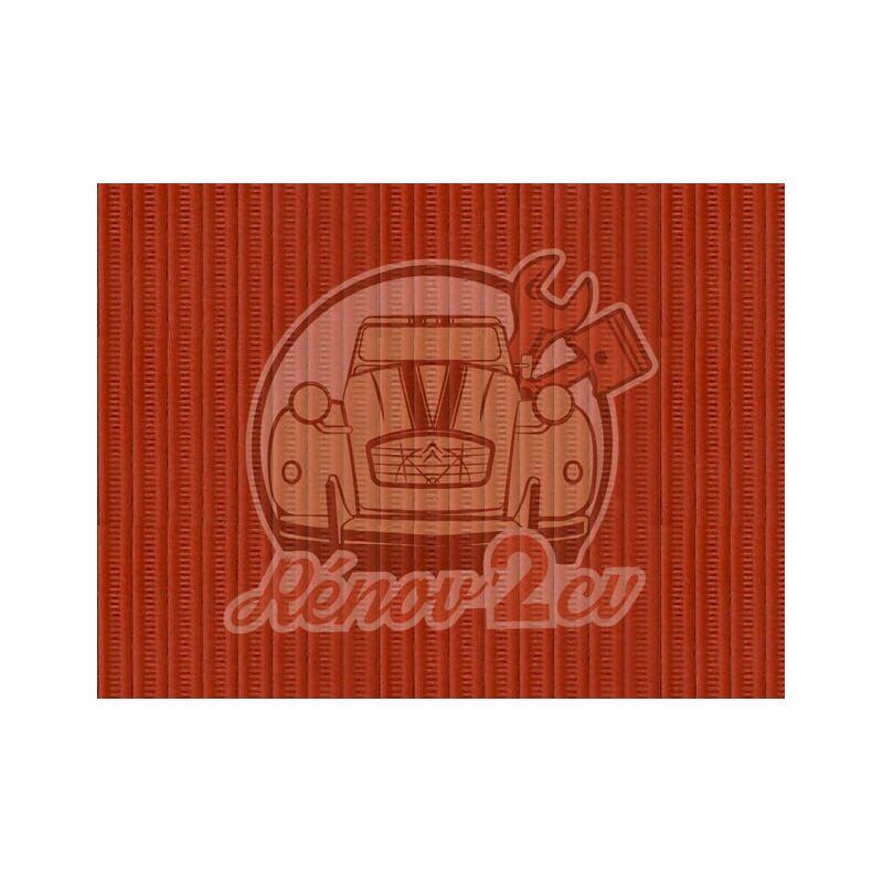 Capote 2cv gros grain orange toile renforcee