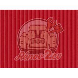 Strengthened hood 2cv red vallelunga grosgrain