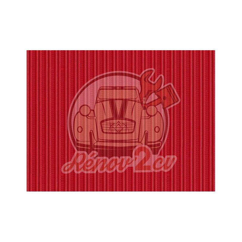 Capote 2cv gros grain rouge vallelunga toile renforcee