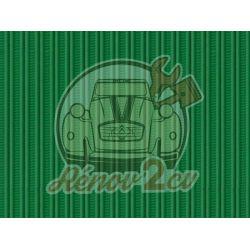 Strengthened hood 2cv green tuilerie grosgrain