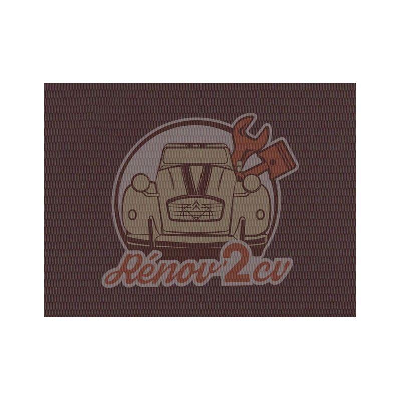 Capote 2cv petit grain brun rouge grenat