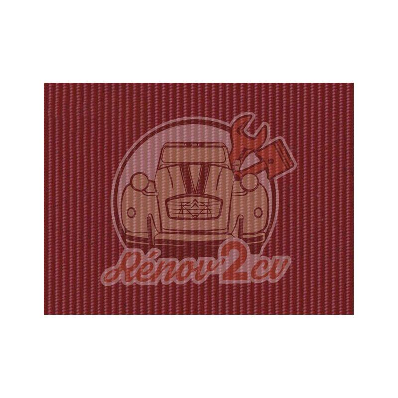 Cappotta 2cv riga piccola ruggine / rosso cinabro