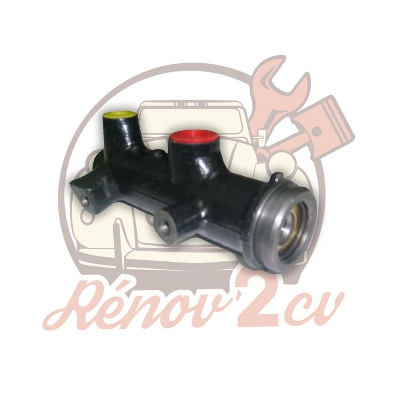 Master cylinder early model dual circuit 2cv