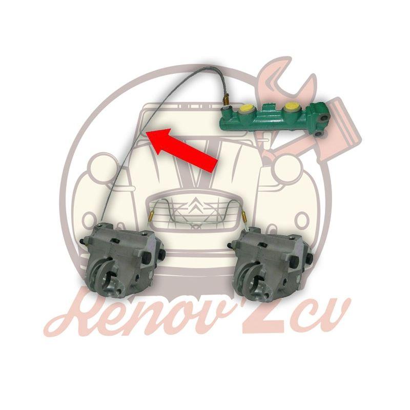 Tubo de freno delantero m8x125 bomba de freno/pinza o repartidor sobre caja de cambios