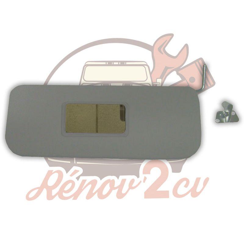 Grey sun visor passenger side 2cv
