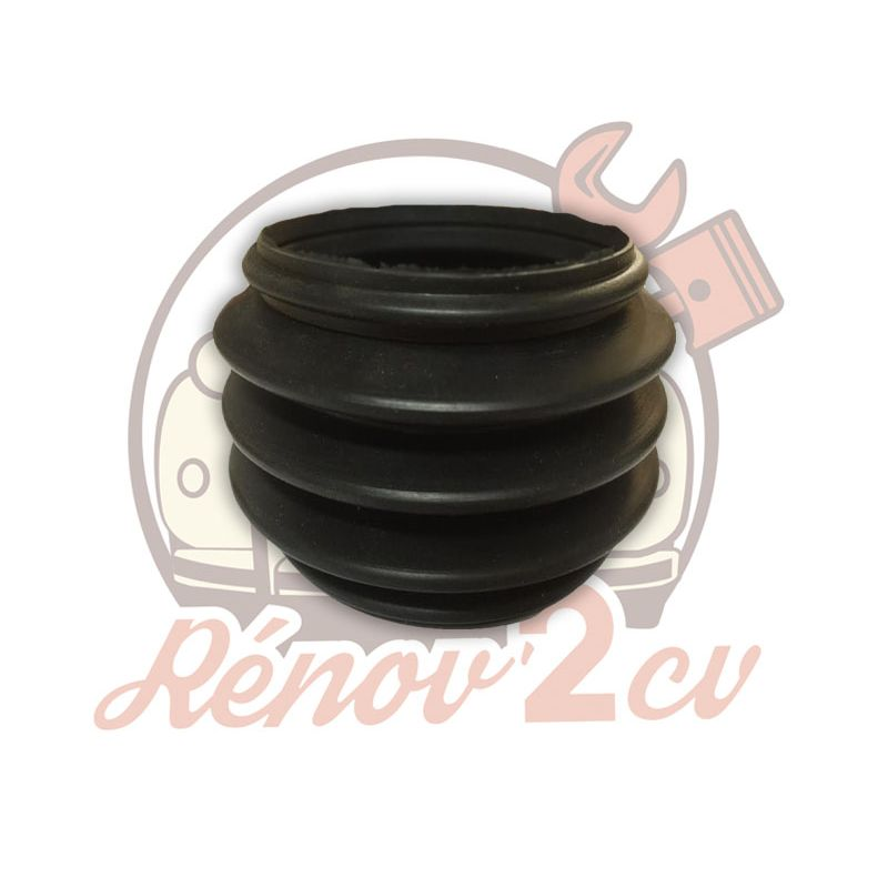 Rubber boot for double universal joint homokinetic