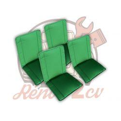 Set of 4 green Bayadere...