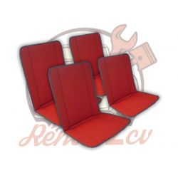 Set of 4 red Bayadere seat...