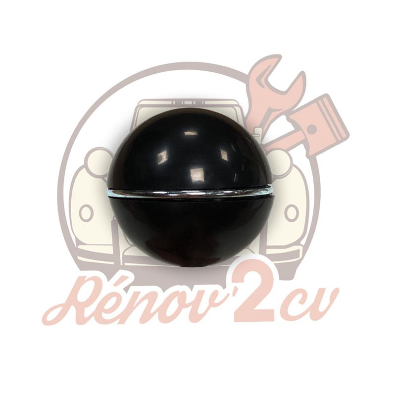 Black gearlever knob with chrome ring