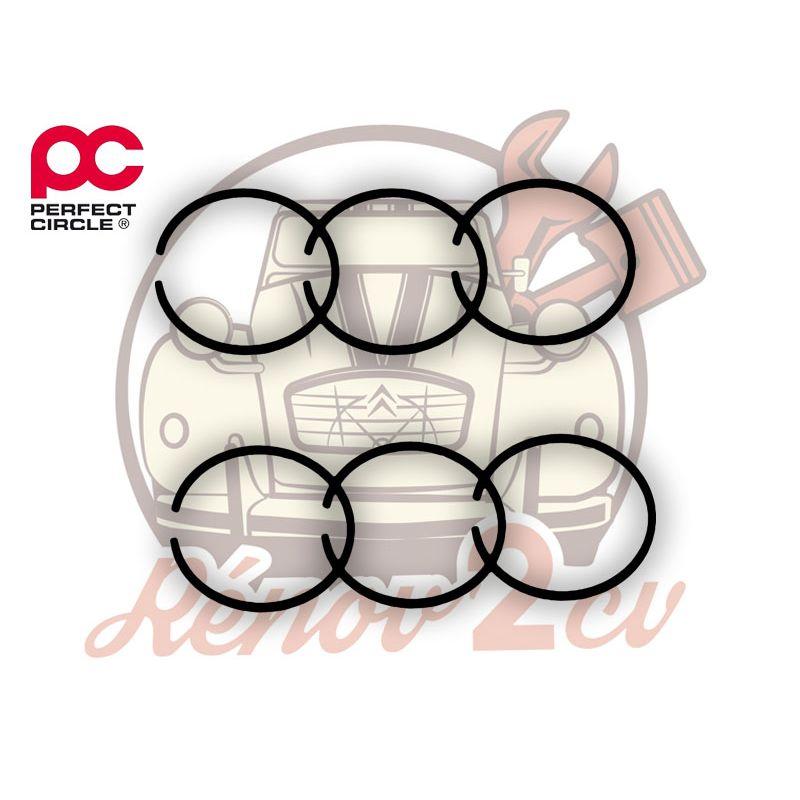 Jeu de segments moteur 602cc 1.5/2/4 perfect circle 74 mm
