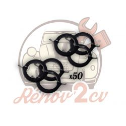 Pack of 50 elastic rubber...