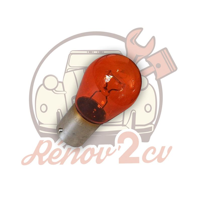Lampadina 12 volts 21w arancione bau15s