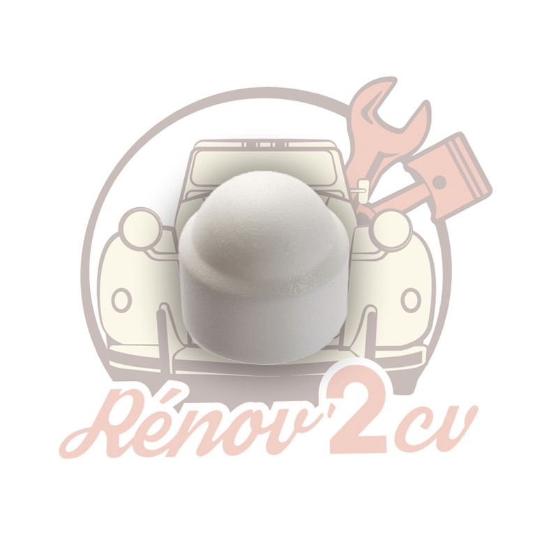 Wheel nut cover white 2cv mehari